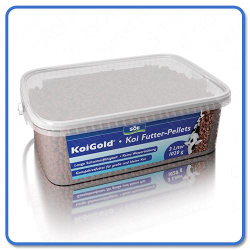 S ll koi gold pellets information f tterung test kauf for Was fressen teichfische