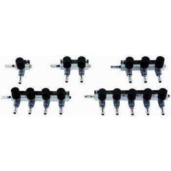 9mm Luftverteiler 1 Ausgang mit Hahn