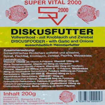 SV2000 Vollwert mit Knoblauch und Zwiebeln 200g Frostfutter