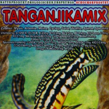 Tanganjikamix 100 gr. Frostfutter für Barsche