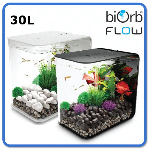 biorb flow 30 liter design nano aquarium komplettaquarium garnelenbecken led ebay. Black Bedroom Furniture Sets. Home Design Ideas
