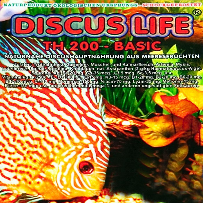 Discus Life TH 200 basic Truthahn 200g Frostfutter