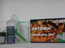 Artemia Aufzuchtset von vorne fotographiert