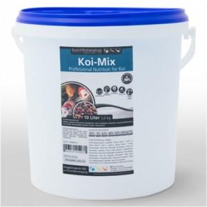 Koifutter Mix 6 mm Körnung Pellets